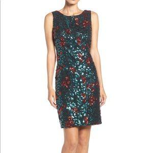 NWT chetta b floral sheath dress